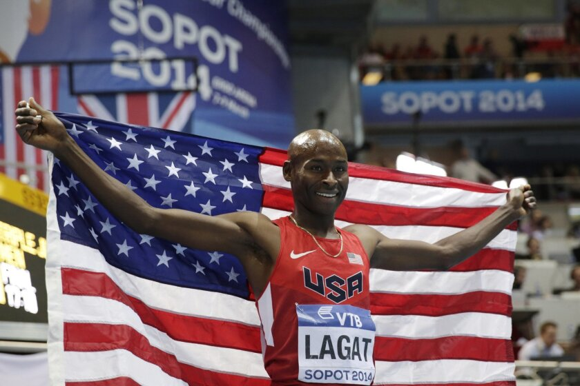 Bernard Lagat, who became a U.S. citizen in 2004, is the second-fastest man to run 1,500 meters at 3:26.34. Lagat's best time at 5,000 meters is 12:53.60.