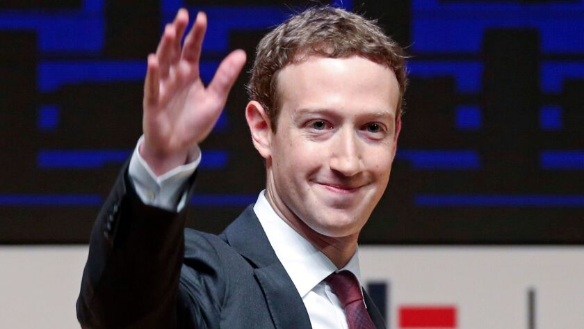 Facebook Chief Executive Mark Zuckerberg would be 36 years old by the time the 2020 election rolls around.