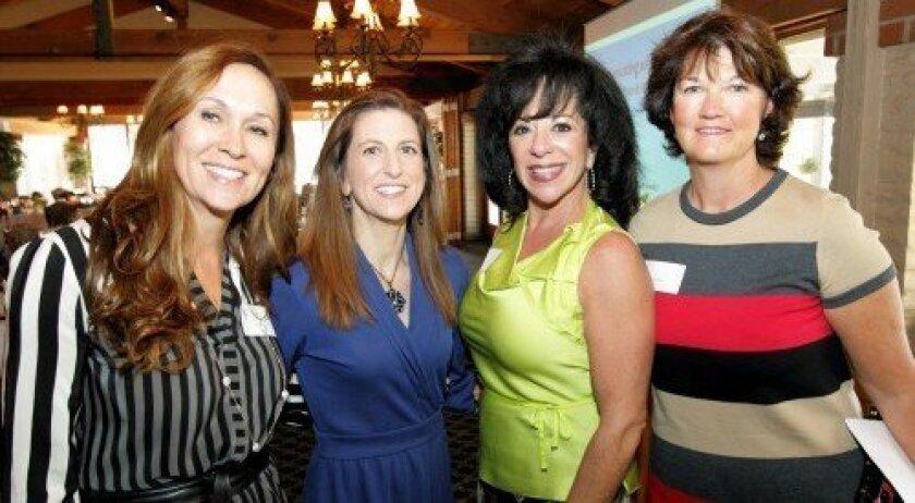 Clare Sturtevant, guest speaker Dr. Lisa Boesky, President Katherine Foster, Donna Walker