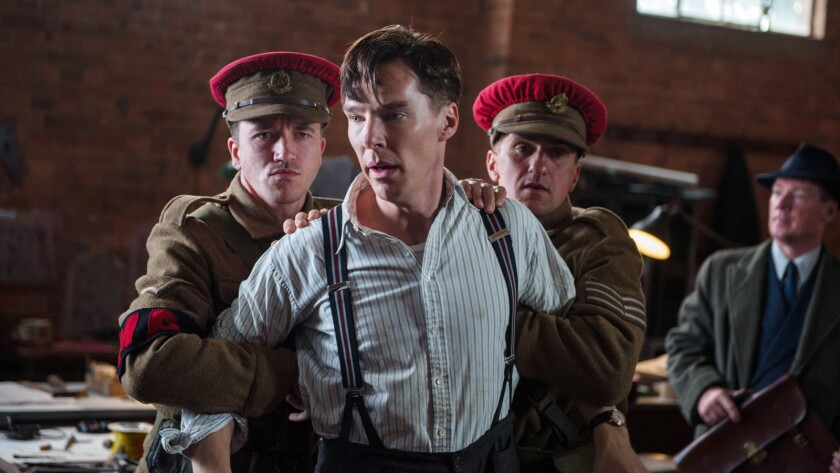 """Graham Moore won the adapted screenplay Oscar for """"The Imitation Game,"""" starring Benedict Cumberbatch, on Sunday night."""