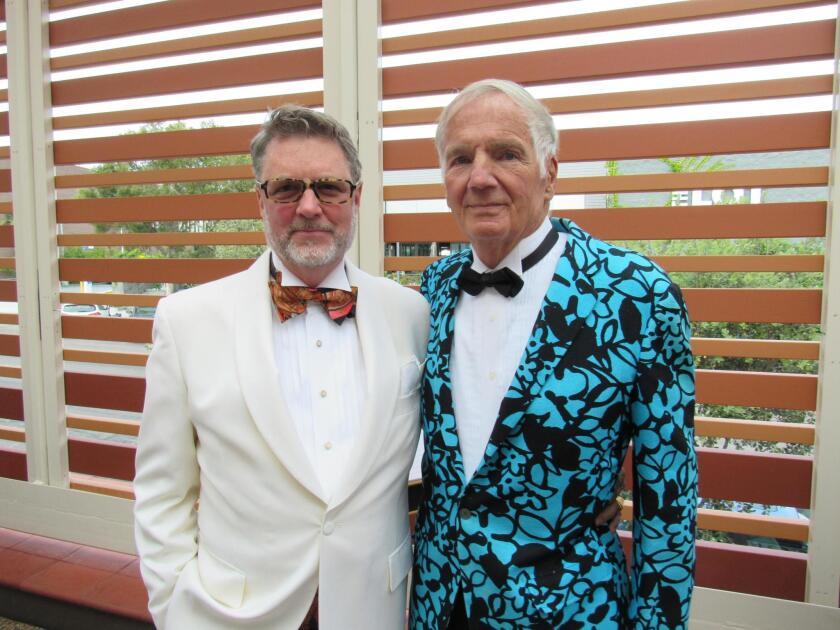 Former Music Society president and artistic director Christopher Beach and Wesley Fata