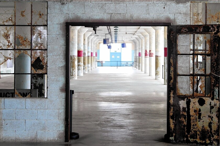 Chinese artist Ai Weiwei is conceiving art installations for various points on the former prison island of Alcatraz, including the New industries Building, pictured here.