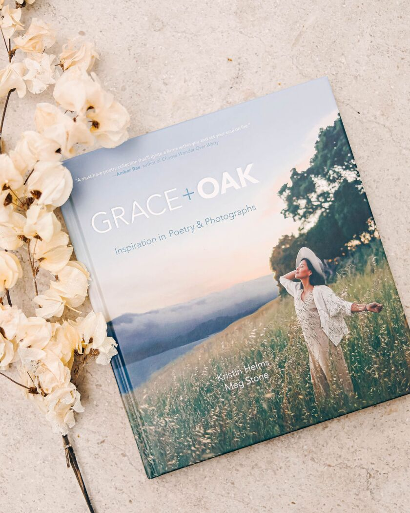 "The cover of ""Grace + Oak: Inspiration in Poetry & Photographs"""