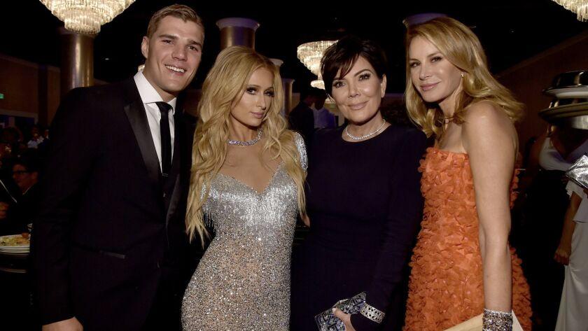 Chris Zylka, Paris Hilton, Kris Jenner and Dee Ocleppo