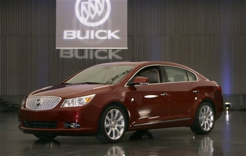 General Motors unveils the 2010 Buick LaCrosse at the automaker's technical center in Warren, Mich., Thursday, Dec. 18, 2008. The LaCrosse will make its world debut at the North American International Auto Show in Detroit and production will begin this summer at the Fairfax Assembly facility in Kan