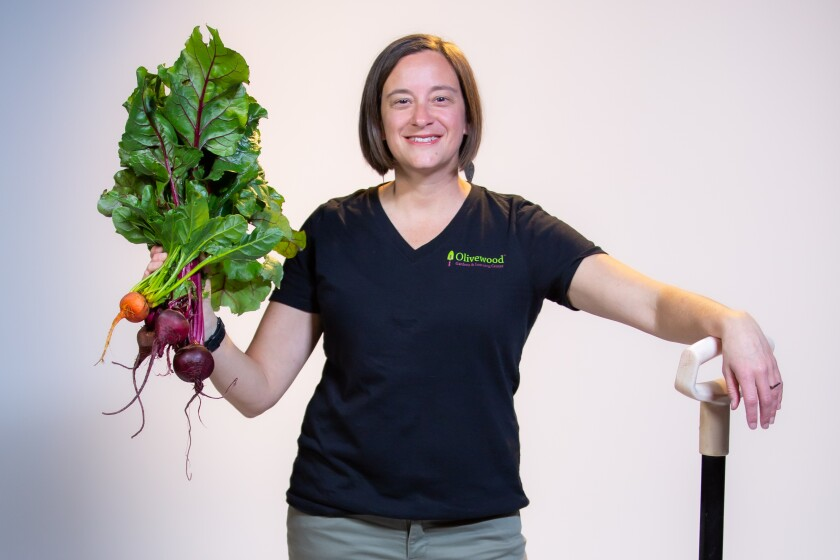 Jen Nation, the executive director of Olivewood Gardens & Learning Center
