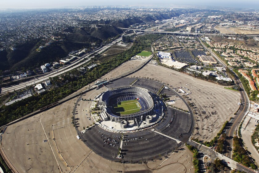A major political struggle will decide whether the 166-acre site of Qualcomm Stadium will be redeveloped for higher education or commercial development.