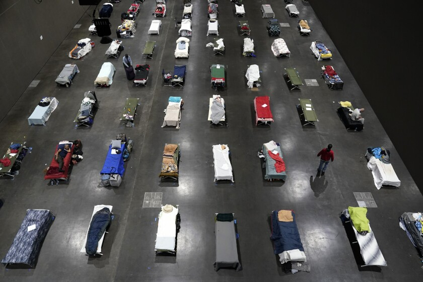 The San Diego Convention Center became a homeless shelter during the COVID-19 pandemic