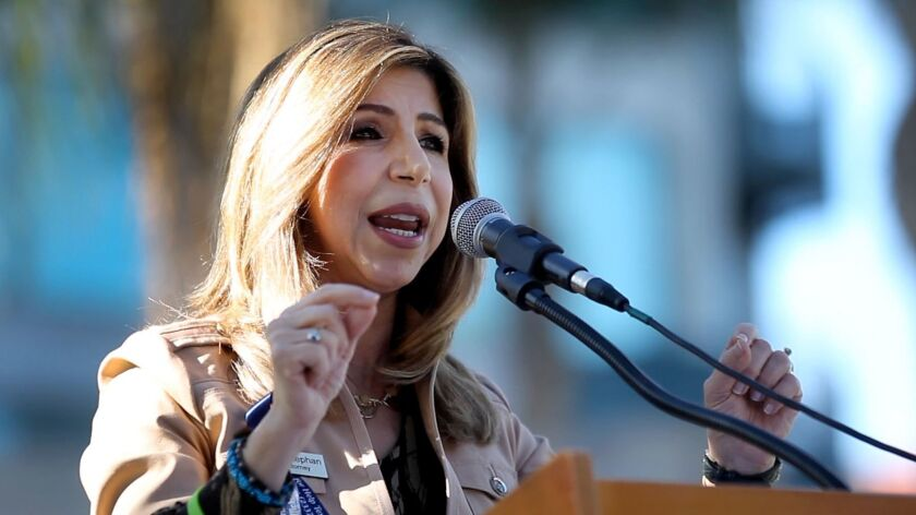 SAN DIEGO, January 13, 2018   District Attorney Summer Stephan speaks during the Fifth Annual Human Trafficking Awareness Rally at Balboa Park in San Diego on Saturday.   Photo by Hayne Palmour IV/San Diego Union-Tribune