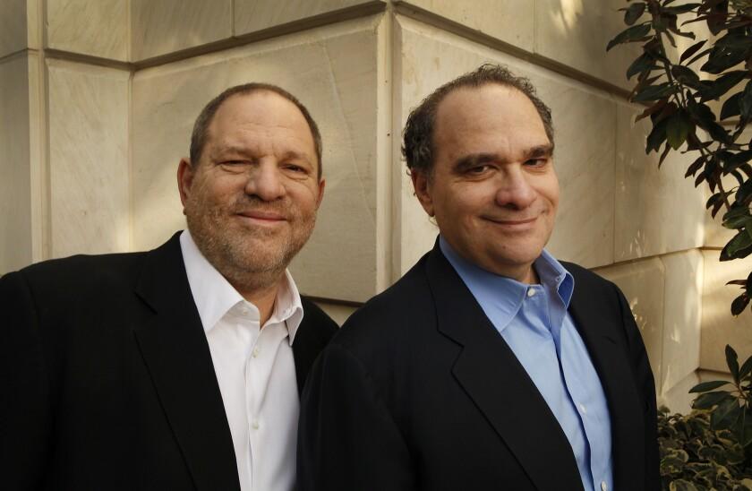Harvey Weinstein, left, and Bob Weinstein in 2012.