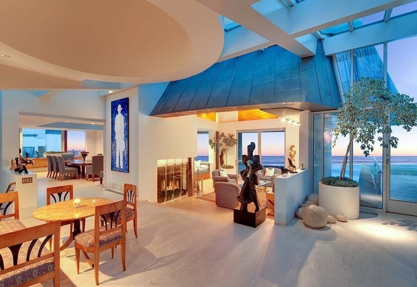 The Frank Gehry-designed Borman estate, set on more than an acre, came on the market in 2013 at $57.5 million. More: The site has 160 feet of beach front, an 11,413-square-foot home, an ocean-view tennis court and a lap pool.