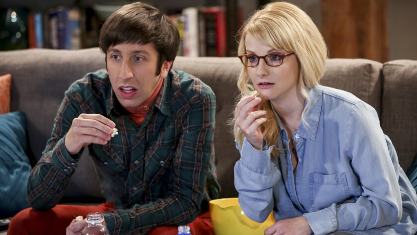 """Simon Helberg and Melissa Rauch in the premiere of the final season of """"The Big Bang Theory"""" on CBS."""