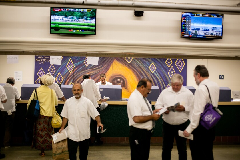 The Del Mar Fairgrounds could get its own sports book if California voters approve sports wagering in November 2022.