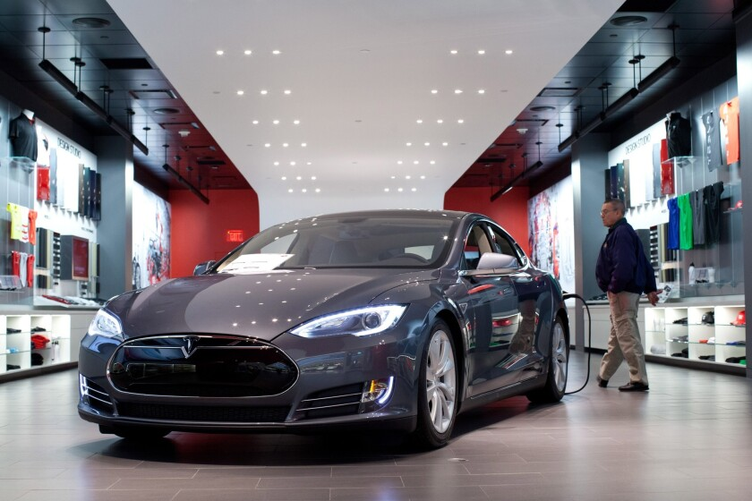 The Tesla Model S. Deliveries of the high-price, high-margin Models S and X were flat for the third quarter.