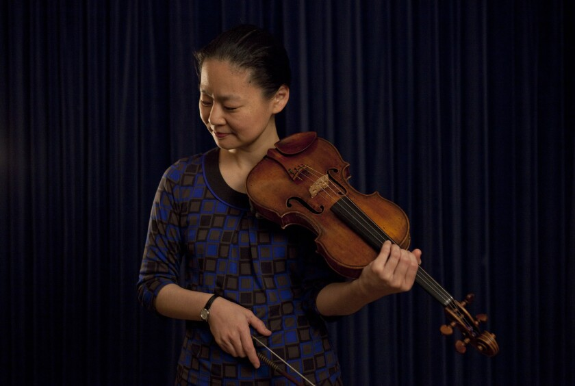 Violinist Midori at Walt Disney Concert Hall in 2013.
