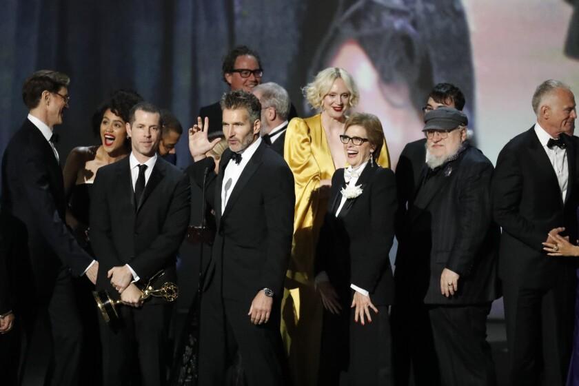 LOS ANGELES, CA., September 17, 2018: David Benioff onstage after winning Outstanding Drama Series f