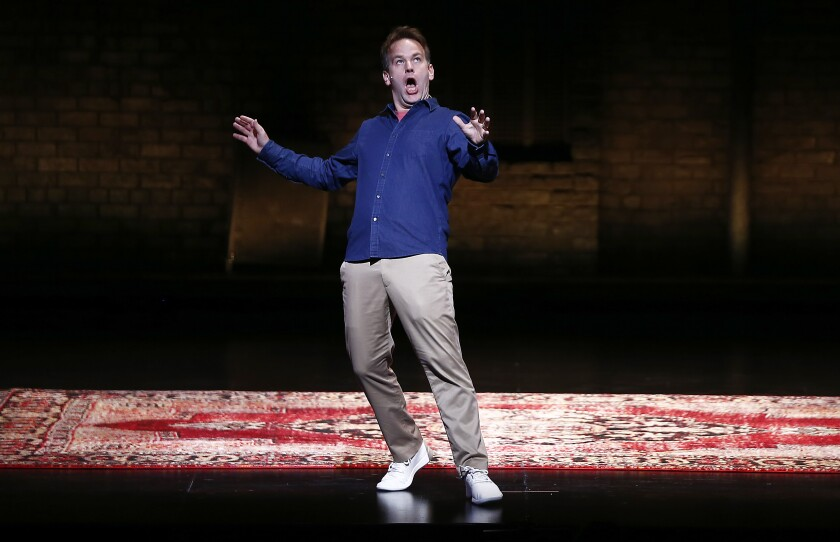 """Mike Birbiglia performs """"The New One"""" at the Ahmanson in Los Angeles."""