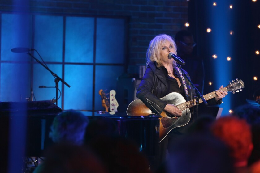 Singer-songwriter Lucinda Williams performs on stage for Skyville Live on November 2, 2016 in Nashville, Tennessee. (Photo by Natasha Moustache/Getty Images for Skyville)