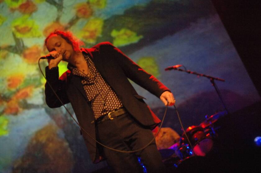 David Tibet performing with Current 93 at Queen Elizabeth Hall in 2008.