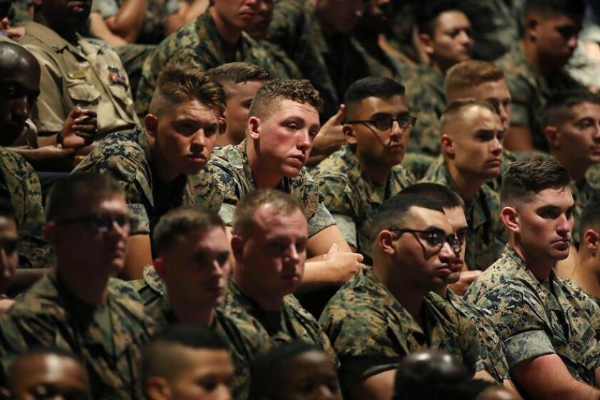 """El Departamento de Defensa informó hoy que está """"explorando oportunidades en 2019"""" para el desfile militar que pidió el presidente, Donald Trump, y que estaba previsto para el próximo noviembre, coincidiendo con el Día de los Veteranos. EFE/ARCHIVO/POOL"""