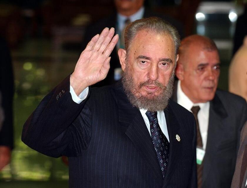 Una veintena de países y varios grupos regionales recordaron hoy en la Asamblea General de la ONU al fallecido expresidente y líder de la Revolución cubana, Fidel Castro. EFE/ARCHIVO