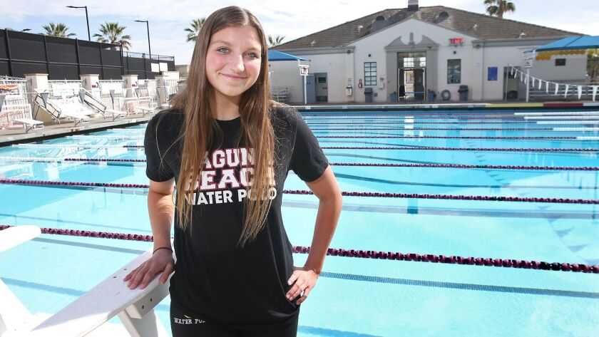 Senior Sophia Lucas of Laguna Beach High girls' water polo is the Daily Pilot High School Female Ath