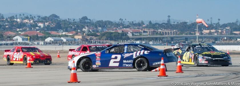 Spinning a NASCAR stock car