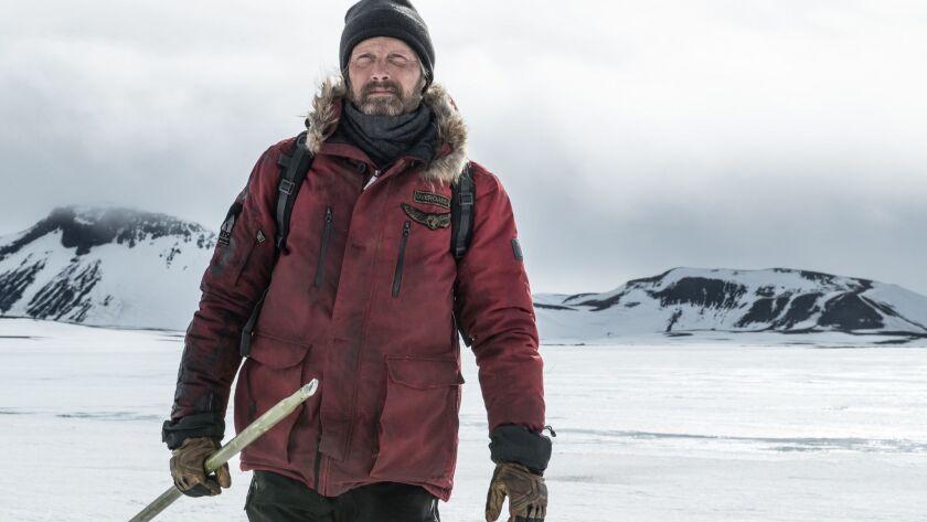 """Mads Mikkelsen in """"Arctic"""" movie. CREDIT: HELEN SLOAN SMPSP"""