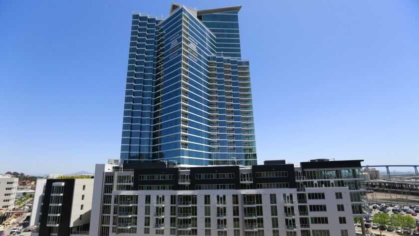 Park 12 is San Diego's is downtown's largest apartment building and considered a luxury building by CoStar, which it says are likely to experience rent losses.