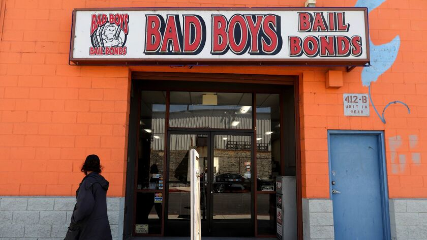 LOS ANGELES, CALIF. -- THURSDAY, AUGUST 30, 2018: Bad Boys Bail Bonds in Los Angeles, Calif., on Aug