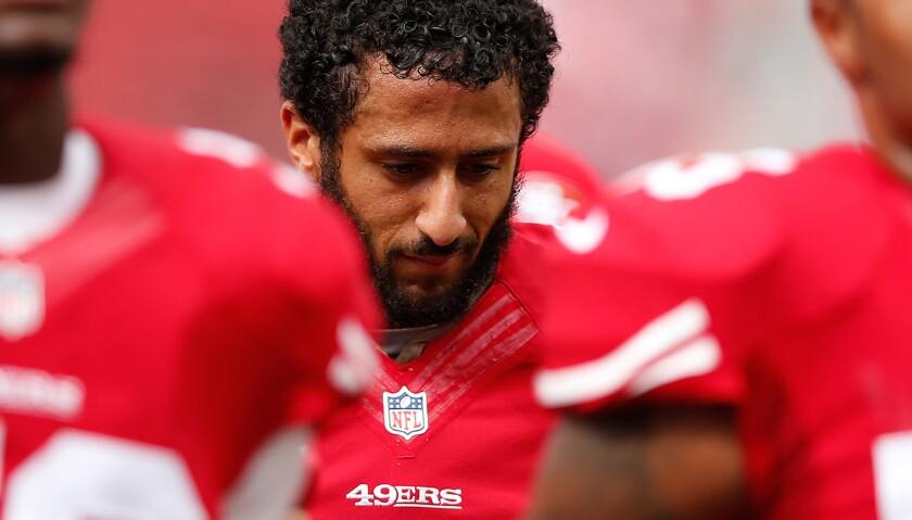 Colin Kaepernick, quarterback de los San Francisco 49ers.