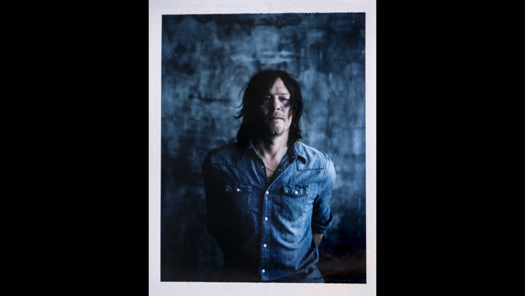 """Norman Reedus from """"The Walking Dead"""" and upcoming sci-fi movie """"Air,"""" photographed at Comic-Con 2015."""
