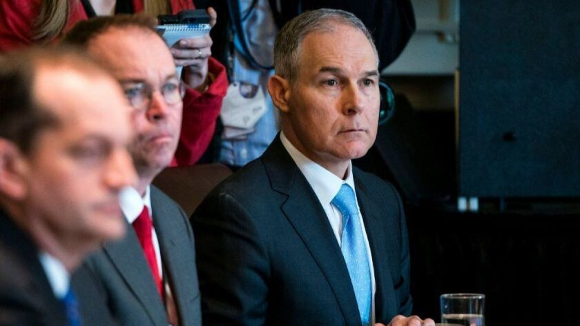EPA Chief Pruitt attends cabinet meeting at the White House, Washington, USA - 09 Apr 2018