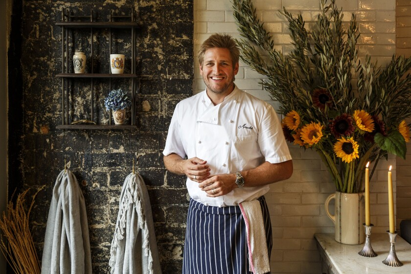 Chef Curtis Stone at his Beverly Hills restaurant Maude.