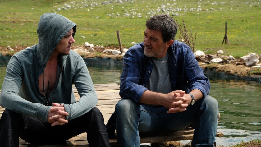 """Jonathan Rhys Meyers, left, and Antonio Banderas in the film """"Black Butterfly."""""""