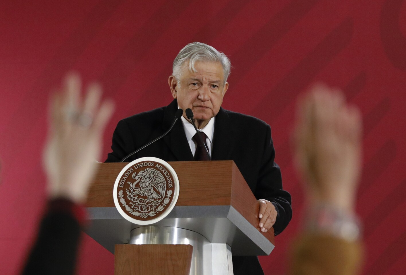 At a news conference Jan. 9, Mexican President Andres Manuel Lopez Obrador issued an emotional appeal to his countrymen to help battle against fuel thefts.