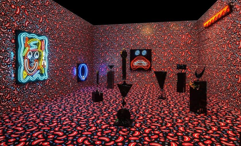 Devin Troy Strother's extravaganza at Richard Heller Gallery