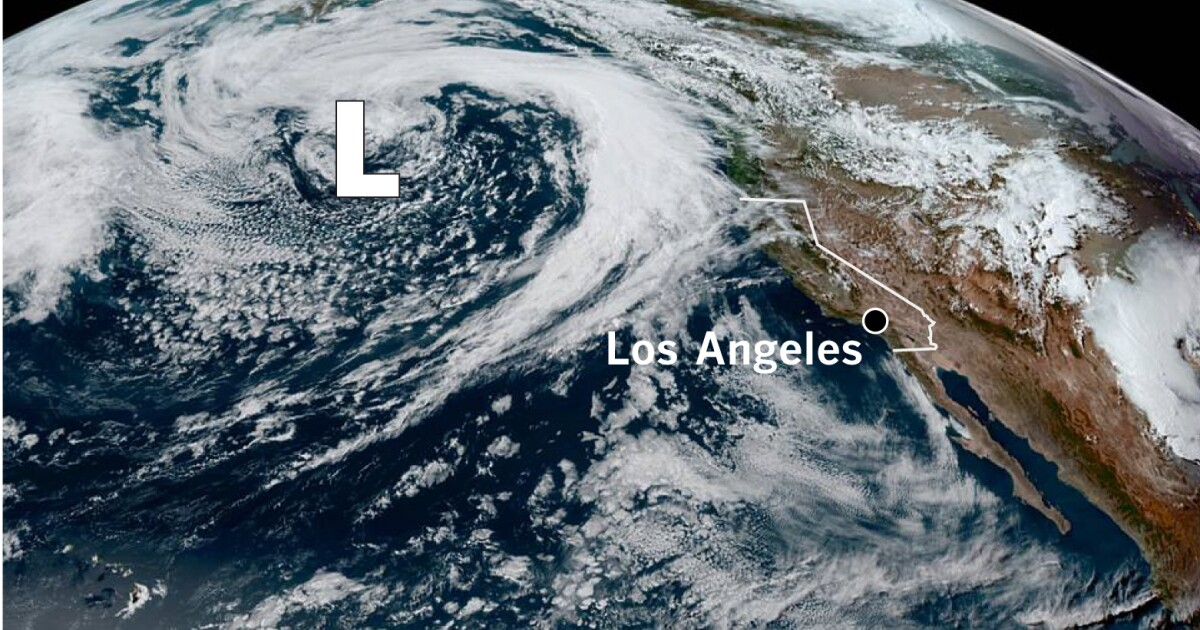 Atmospheric river will focus rain on Northern and Central California