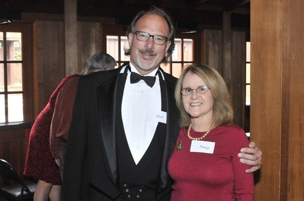 DMCC President Nate McCay, DMCC founder Nancy Weare