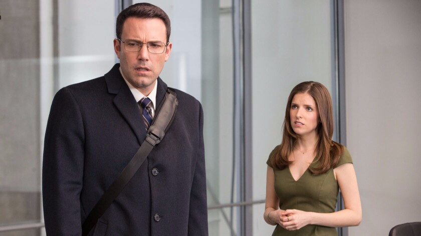 "Ben Affleck and Anna Kendrick in ""The Accountant."""