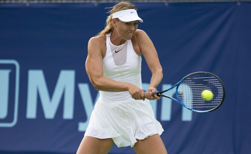 Maria Sharapova won't play for Orange County Breakers but World Team Tennis team plans to keep playing