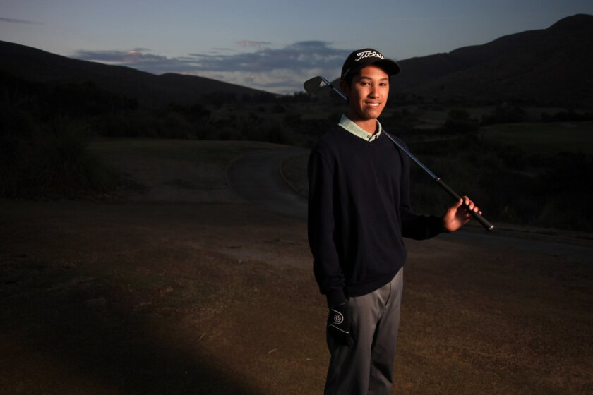 Matthew Modelo, 15, who will be a sophomore at Eastlake High School, has been playing golf since he was 8 years old. In April, Modelo won his first American Junior Golf Association Tournament.