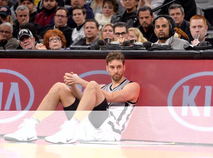 El español Pau Gasol de los Spurs de San Antonio. EFE