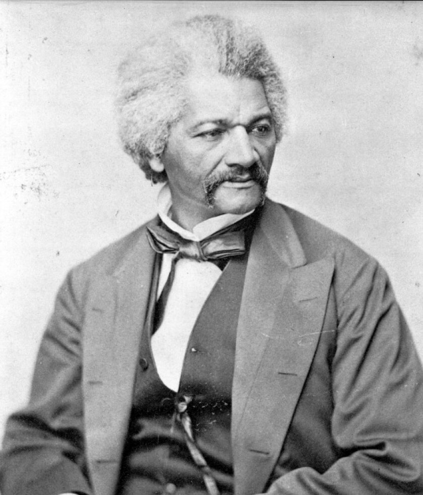Frederick Douglass in 1870. Photo from Library of Congress