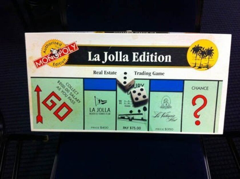 A La Jolla version of the classic Monopoly game was produced in 1994.