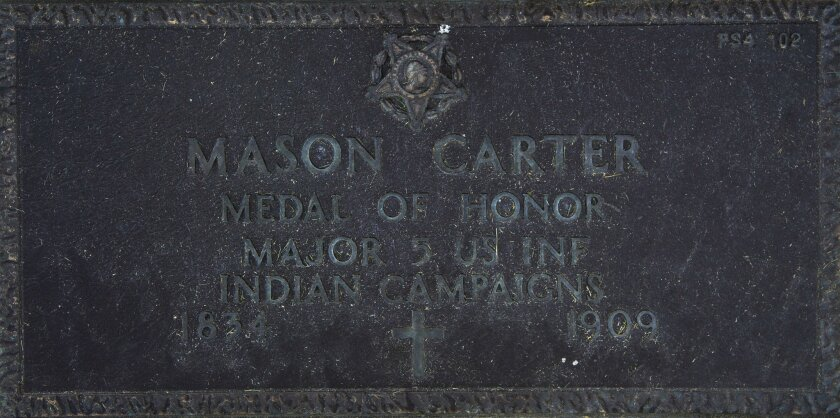 Mason Carter received the Medal of Honor for his heroism on Sept. 30, 1877, at Bear Paw Mountain, Mont.