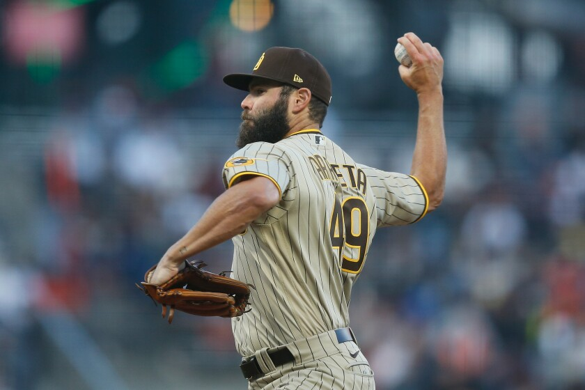 Jake Arrieta pitches against the San Francisco Giants