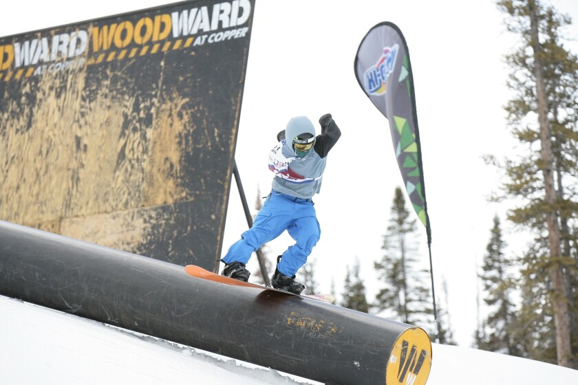 Costa Mesa High sophomore Sammy Swanson, a decorated snowboarder, placed sixth in boardercross in the 2014 USA Snowboarding Assn. nationals in Colorado on Sunday.