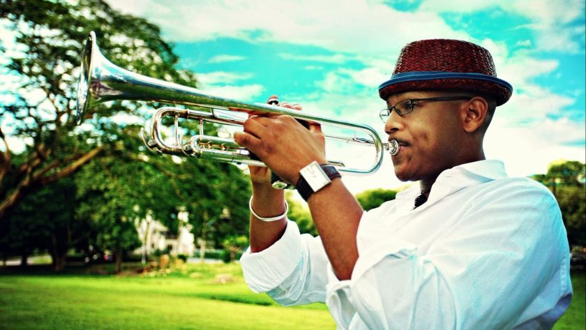 Trinidad-born trumpeter Etienne Charles will bring a spirited musical pulse to his holiday concert in Escondido.