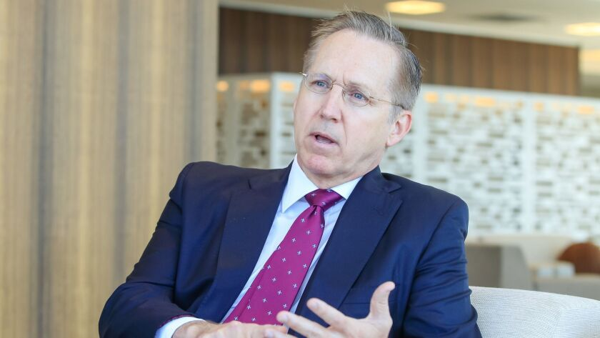 Incoming CEO Jeff Martin talked about Sempra Energy's future in the rapidly changing global energy markets during an interview at Sempra headquarters in downtown San Diego.
